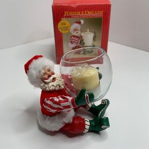 Other - Christmas Decor   Santa with Candle In Box